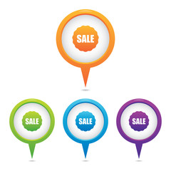 Set of Sale Badge Marker Icons