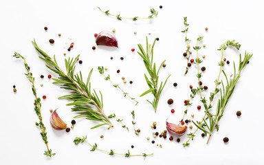 Herbs and spices - background for cooking