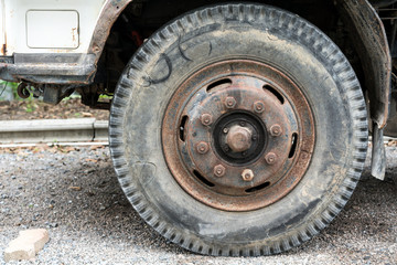 Overused front tire