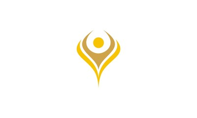 People, hope, success emblem symbol icon vector logo