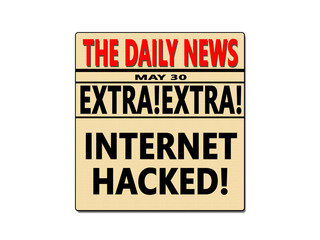 Internet Hacked News Paper