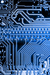 Abstract close up of Electronic Circuits in Technology on Mainboard computer background  (logic board,cpu motherboard,Main board,system board,mobo)