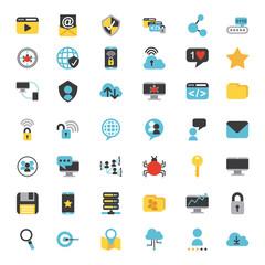 icons set computing icon vector illustration design graphic