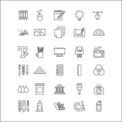 icons set Creativity draw icon vector illustration design graphic