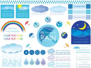 雨のテンプレート 3