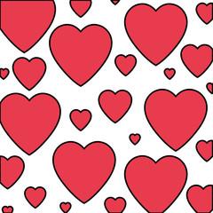 heart love isolated pattern vector illustration design