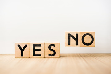 """YES"" & ""NO"" concept"