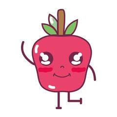 kawaii cute happy apple fruit
