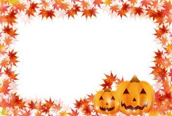 ハロウィン 紅葉 かぼちゃ フレーム