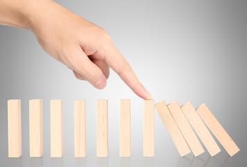 stop dominoes continuous toppled