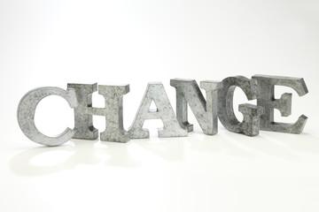 CHANGE/金属製の文字