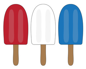 Red White Blue Popsicle
