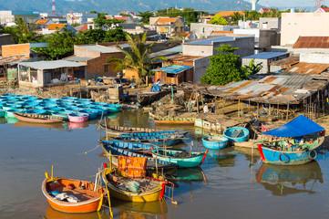 Traditional vietnamese fishing village
