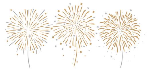 Feuerwerk Silvester Gold Silber Sterne