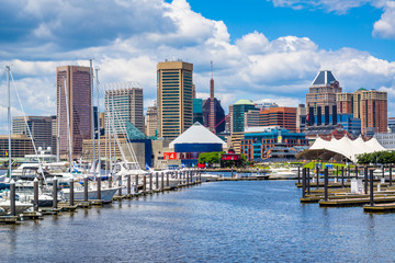 Garden Poster Napels A marina and view of the Inner Harbor in Baltimore, Maryland.