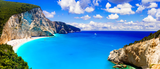 One of the most beautiful beaches of Greece- Porto Katsiki in Lefkada Wall mural