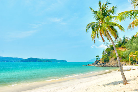 Pentai Tengah beach at Langkawi island, Malaysia