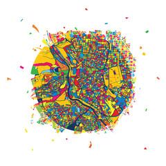 Madrid Creative Vector Map