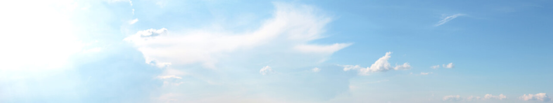 Template con nuvole nel cielo azzurro