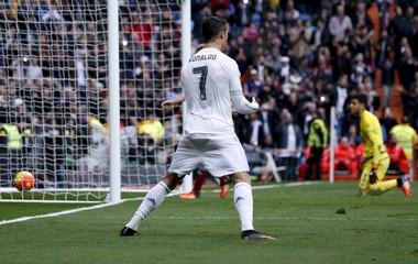 Real Madrid's Cristiano Ronaldo celebrates his first goal