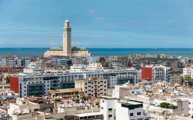 View over the city of Casablanca