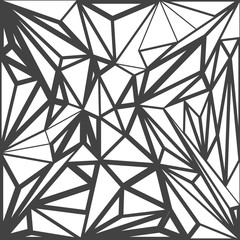 vector abstract polygonal decoration background.