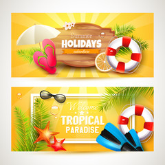 Summer holidays headers