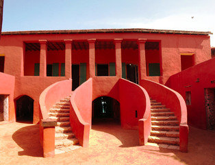 Exterior view to Maison des Esclaves aka the Slave House at Goree island, Dakar, Senegal