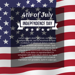 Fourth of July poster.