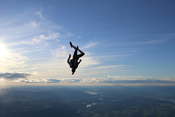 Wall Murals Sky sports Skydiving in Norway
