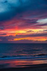 Abendrot über der Meer