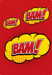 BAM! - Comic Speech Bubble, Cartoon