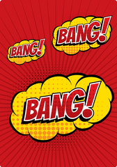 BANG! - Comic Speech Bubble, Cartoon
