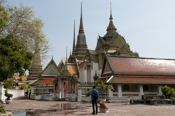 Wat Pho in Bangkok, Thailand - Temple of Reclining Buddha