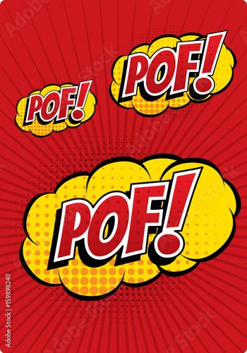 POF! - Comic Speech Bubble, Cartoon