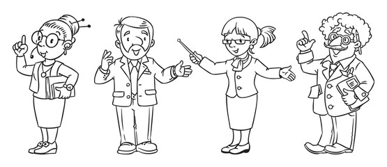 Education professions coloring book.