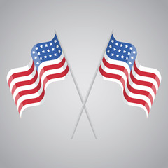 American flag, vector illustration