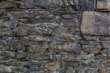Steinmauer aus alten Steinen Struktur