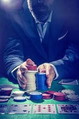 Pokerspieler setzt alles
