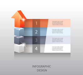 template for infographic or web design