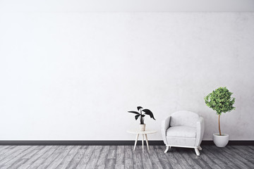 Room with empty wall