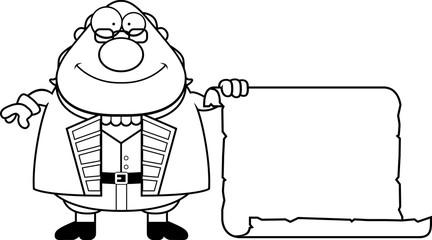 Cartoon Ben Franklin Parchment