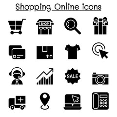 Shopping online & E-commerce icon set