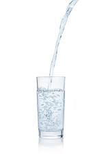 Water splashing from glass.
