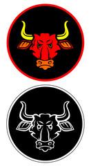 Angry bull mascot character icon vector eps 10