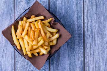 Potatoes chip, French Fries Background, Close Up