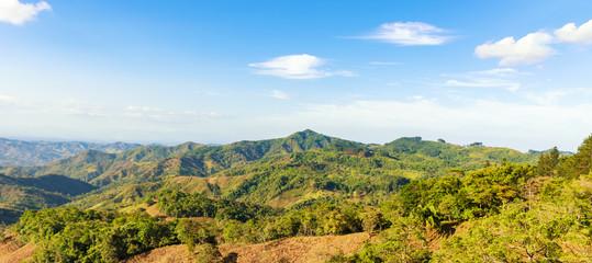 Typical landscape at interior of Azuero Peninsula in Panama.