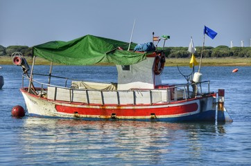 Barca en Punta Humbría