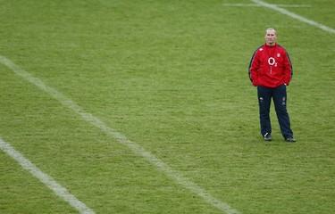 England head coach Stuart Lancaster during training