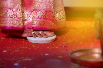 indian Bride foot